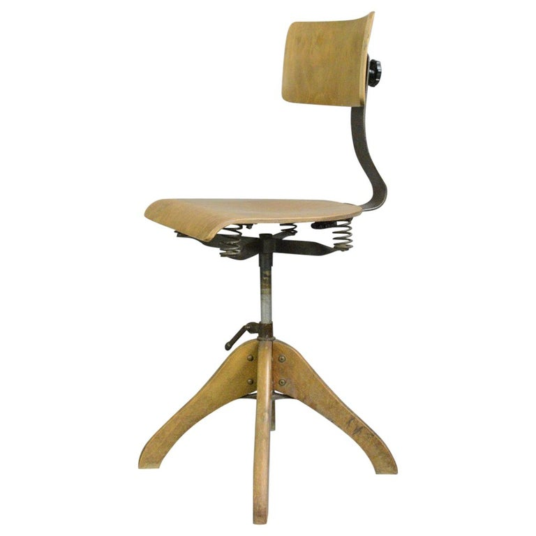 German Draftsman's Chair by Polstergleich, circa 1930s For Sale