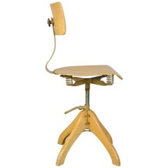 German Draftsman's Chair by Polstergleich, circa 1930s