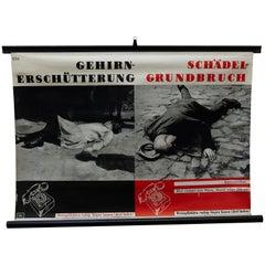 German Emergencies Poster, circa 1960