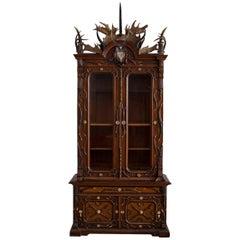 German Fantasy Historic Revival Hunting Trophy Cabinet, Circa 1870