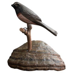 German Folk Art Bird on Natural Base, circa 1920