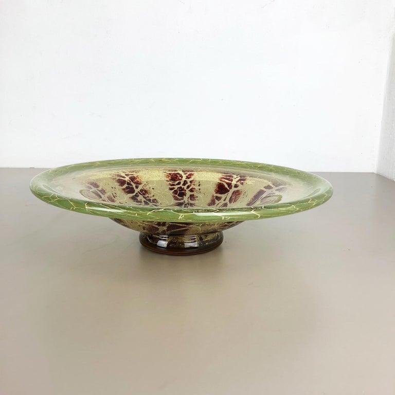 Article: Glass bowl    Producer: WMF, Germany     Designer: Karl Wiedmann    Age: 1930s    Description:   Wonderful heavy Art Deco glass element designed by Karl Wiedmann and produced WMF, Germany in the 1930s. This glass bowl is