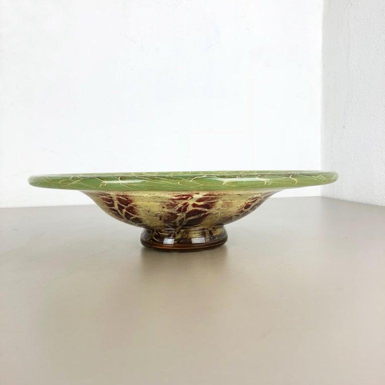 20th Century German Glass Bowl by Karl Wiedmann for WMF Ikora, 1930s Bauhaus Art Deco For Sale