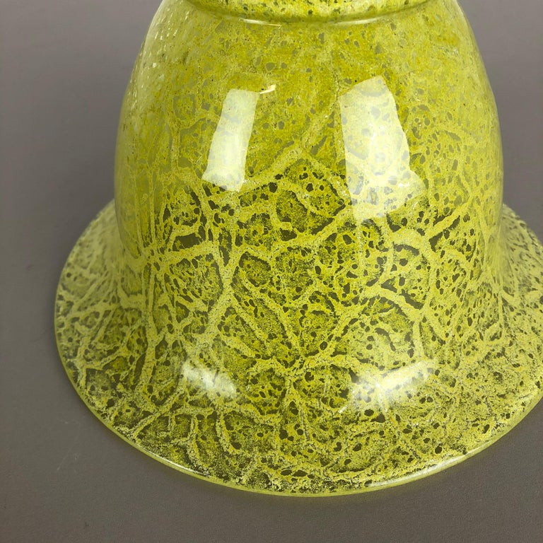 German Glass Vase by Karl Wiedmann for WMF Ikora, 1950s Bauhaus Art Deco For Sale 10