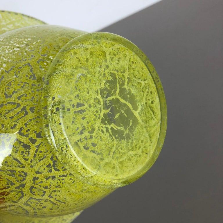 German Glass Vase by Karl Wiedmann for WMF Ikora, 1950s Bauhaus Art Deco For Sale 11