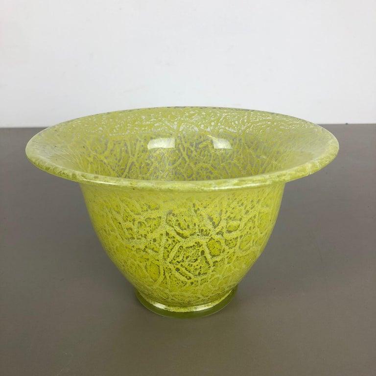German Glass Vase by Karl Wiedmann for WMF Ikora, 1950s Bauhaus Art Deco In Good Condition For Sale In Kirchlengern, DE