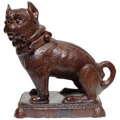 German Glazed Terracotta Bulldog Sculpture