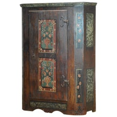 German Hand Painted Cabinet from 1812
