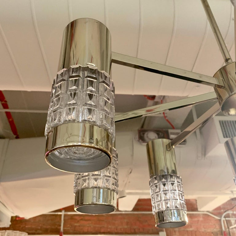 German High Style 1970s Chandelier For Sale 4