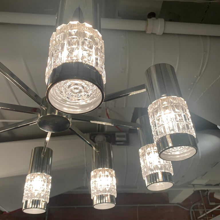 German High Style 1970s Chandelier For Sale 5