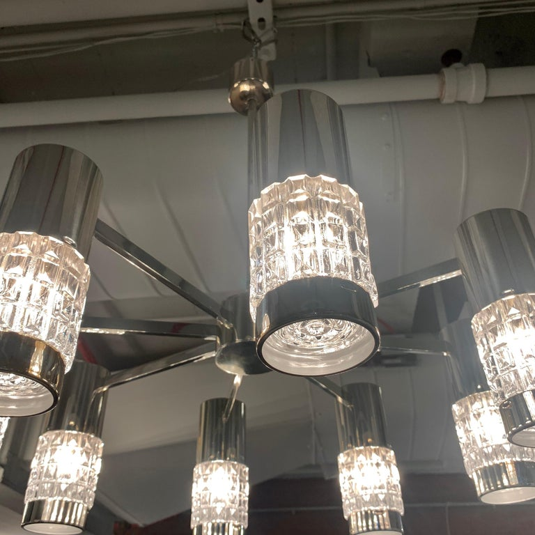 German High Style 1970s Chandelier For Sale 6