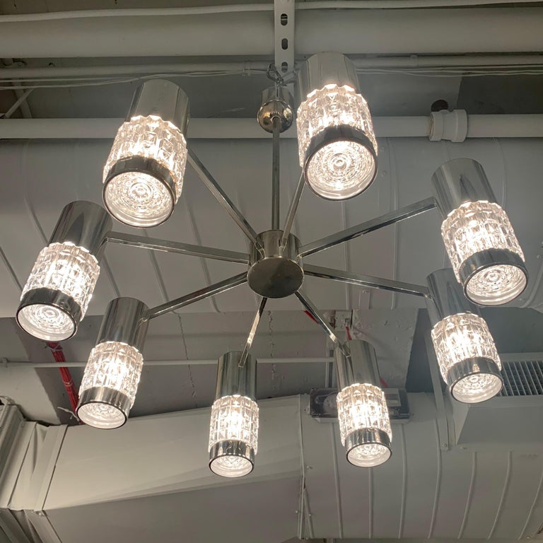 German High Style 1970s Chandelier For Sale 8