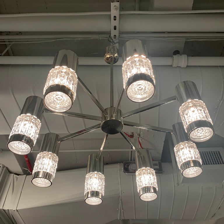 German High Style 1970s Chandelier For Sale 10