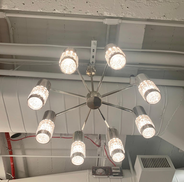 German High Style 1970s Chandelier For Sale 11