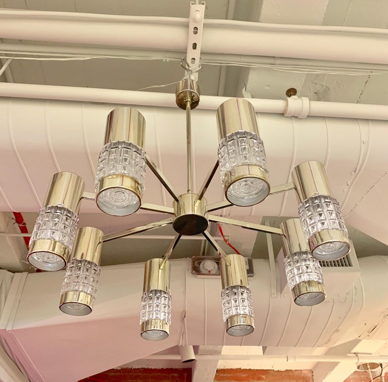 German High Style 1970s Chandelier For Sale 12