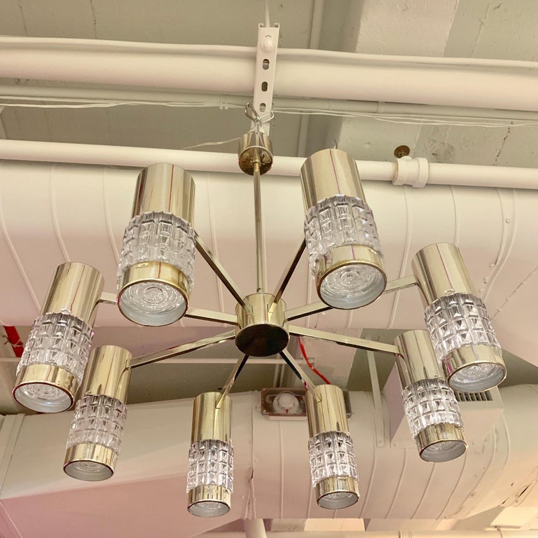 German High Style 1970s Chandelier For Sale 13