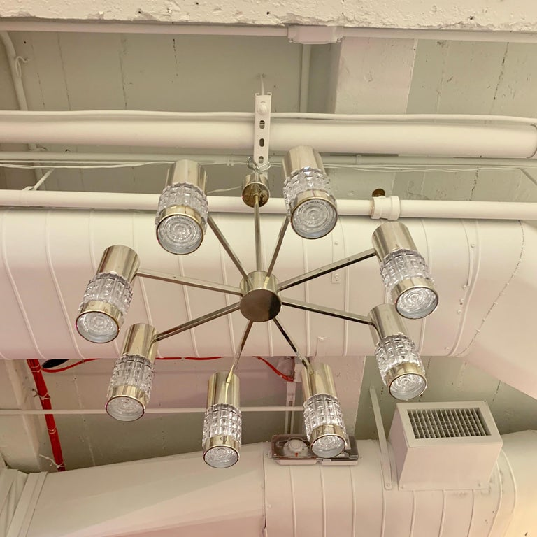 Late 20th Century German High Style 1970s Chandelier For Sale