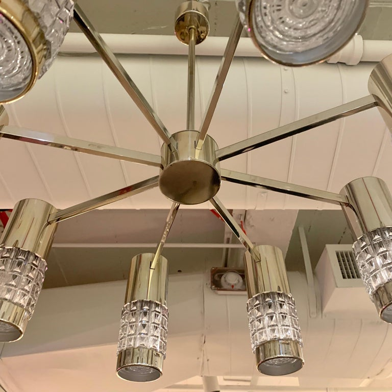 German High Style 1970s Chandelier For Sale 3