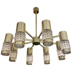 German High Style 1970s Chandelier