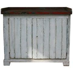 German Industrial Vintage Workbench Worktable in Original Paint