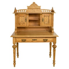 Antique 19th Century German Jugendstil/ Art Nouveau Writing Desk in Pine