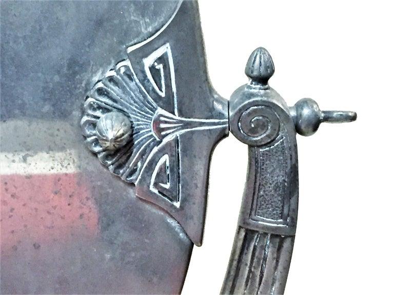 Metal German Jugenstil Grand Silvered Vanity Mirror, circa 1900 For Sale