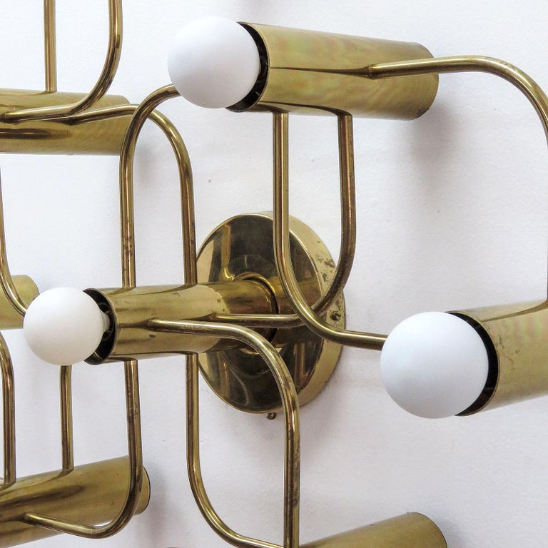 German Leola Flush Mount Light Fixture, 1970 In Good Condition For Sale In Los Angeles, CA
