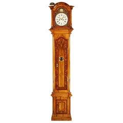 German Marquetry Longcase Clock by Johann Wilhelm Wellershaus, Late 18th Century