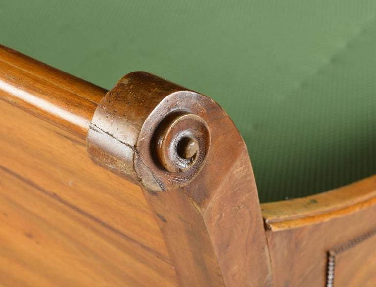 Walnut German Louis XVI Sofa Bed For Sale
