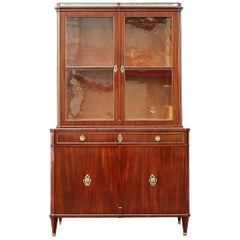German Mahogany Display Cabinet, 19th Century