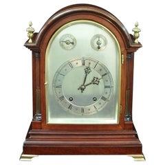 German Mahogany Ting Tang Bracket Clock by W&H