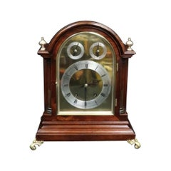 German Mahogany Ting Tang Striking Bracket Clock by Winterhalder & Hofmeier