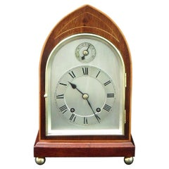 German Mahogany Ting Tang Striking Mantel Clock by W&H