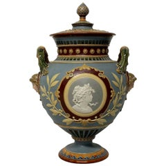 German Majolica Neoclassical Tazza
