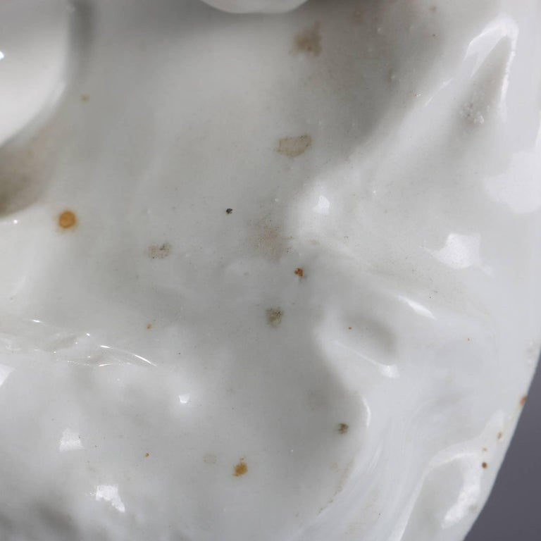 German Meissen Blanc de Chine Style Porcelain Figures, Courting Couple For Sale 6