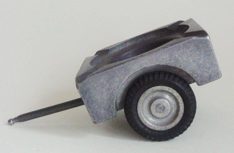 German Midcentury Aluminum Jeep Combination Lighter