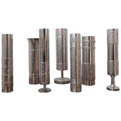 German Mid-Century Metal Modernist Vase Collection No.2 '7'