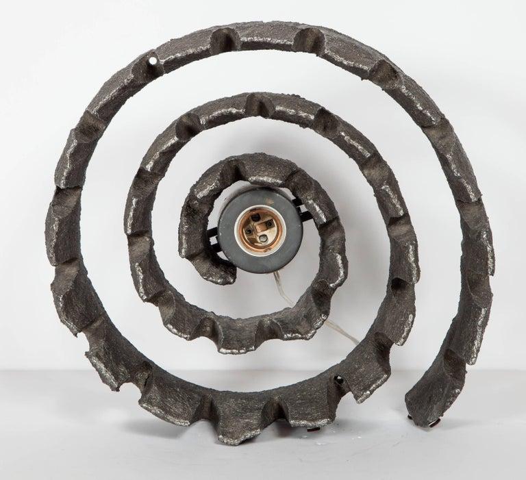 German Mid-Century Modern Brutalist Spiral Sculpture Lamp, C. 1960's For Sale 4