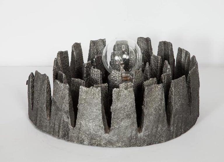 German Mid-Century Modern Brutalist Spiral Sculpture Lamp, C. 1960's For Sale 5