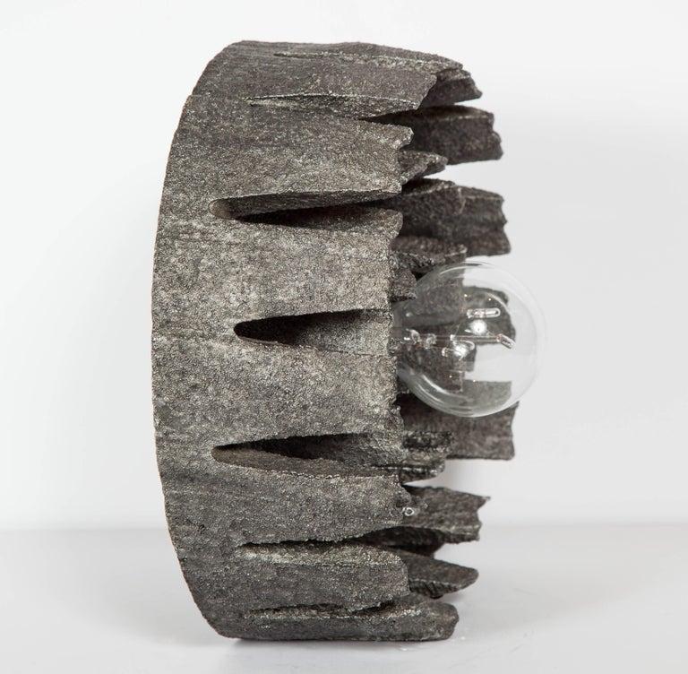 German Mid-Century Modern Brutalist Spiral Sculpture Lamp, C. 1960's For Sale 1