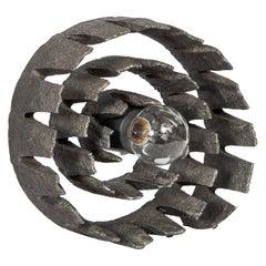 German Mid-Century Modern Brutalist Spiral Sculpture Lamp, C. 1960's