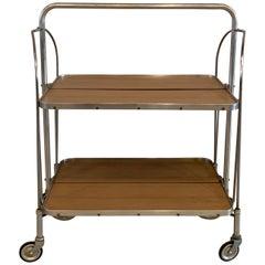 German Mid-Century Modern Folding Serving Bar Cart