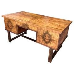 German Mid Century Modernist Walnut Desk