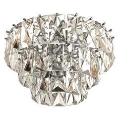 German Midcentury Crystal Flush Mount by Kinkeldey, 1970s