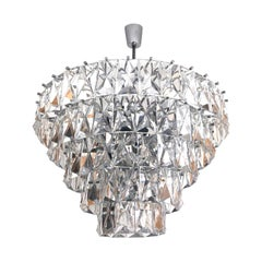 German Midcentury Huge Crystal Chandelier by Kinkeldey, 1960s