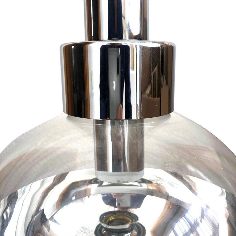 German Midcentury Silver Glass Pendant Lamp by Motoko Ishii for Staff, 1970s 2