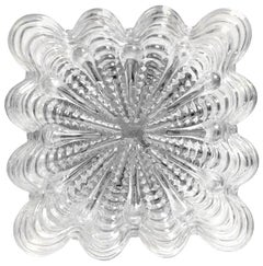 German Midcentury Vintage Bubble Glass Ceiling or Wall Light Flushmount, 1960s