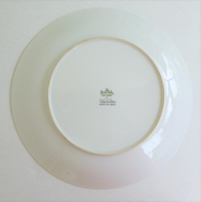 German Modern Rosenthal Birds on Trees 10 Dinner Plates Raymond Loewy 1961-64  In Good Condition For Sale In Miami, FL