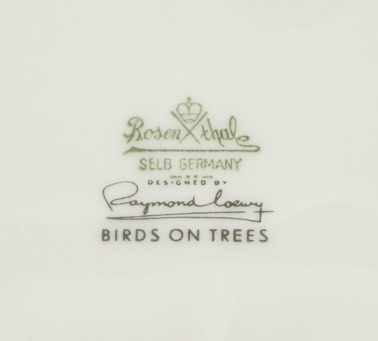 Ceramic German Modern Rosenthal Birds on Trees 10 Dinner Plates Raymond Loewy 1961-64  For Sale