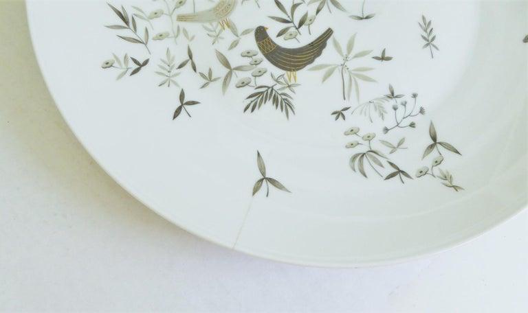 German Modern Rosenthal Birds on Trees 10 Dinner Plates Raymond Loewy 1961-64  For Sale 2
